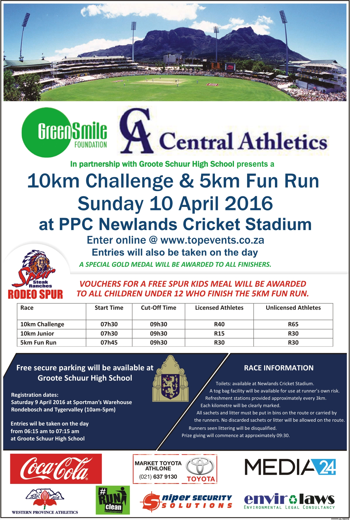 Central Athletics 10km Challenge and 5km Fun Run Final