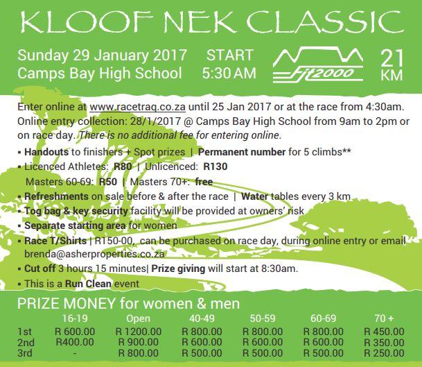 Kloof Nek Classic 2017
